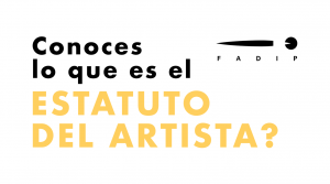 campaña estatuto del artista